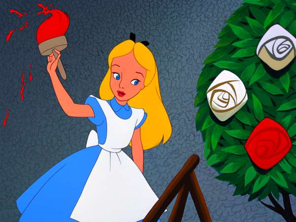 Image result for alice in wonderland painting roses