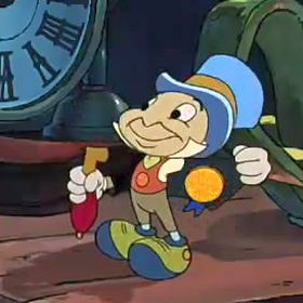 jiminy cricket as ghost of christmas past - Mickeys Christmas Carol
