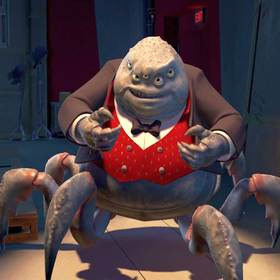 henry j waternoose iii a gross monster scalpless with five eyes and six crab legs ceo of monsters inc from monstropolis