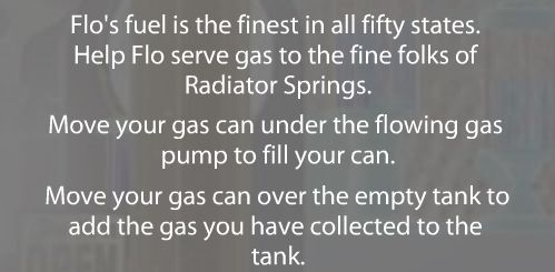 Move your gas can under the flowing gas pump to fill your can