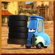 Click here to play Cars Guido's tire juggle Game