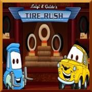 Play Cars Luigi and Guido's Tire Rush Online Game