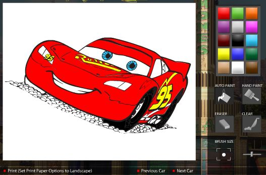 Cars Ramone\'s Coloring Book Online Game