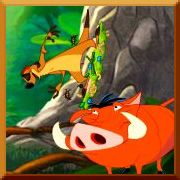 Click here to play The Lion King Timon and Pumbaa's Grub Riding