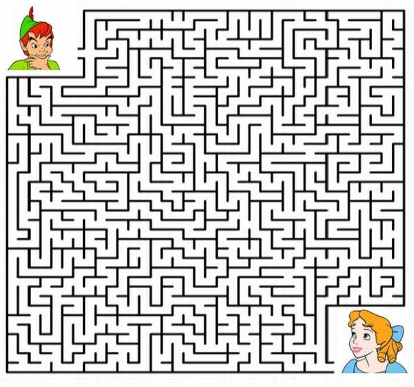 Peter Pan Maze Kids Game
