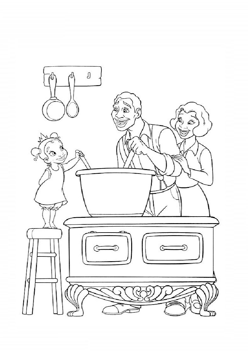 the princess and the frog colouring book online game
