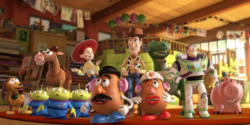 Desktop wallpaper in high resolution with characters from Toy Story Woody to the Rescue