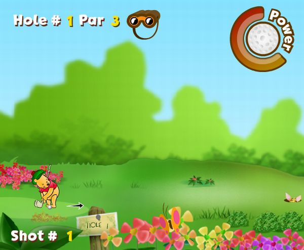 Picture from Winnie the Pooh's 100 Acre Wood Golf game