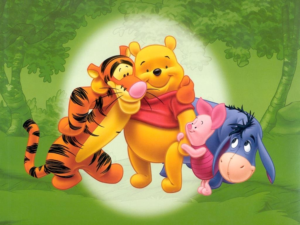 Download Poster with Disney characters Tigger, Winnie the Pooh, Piglet and Eeyore