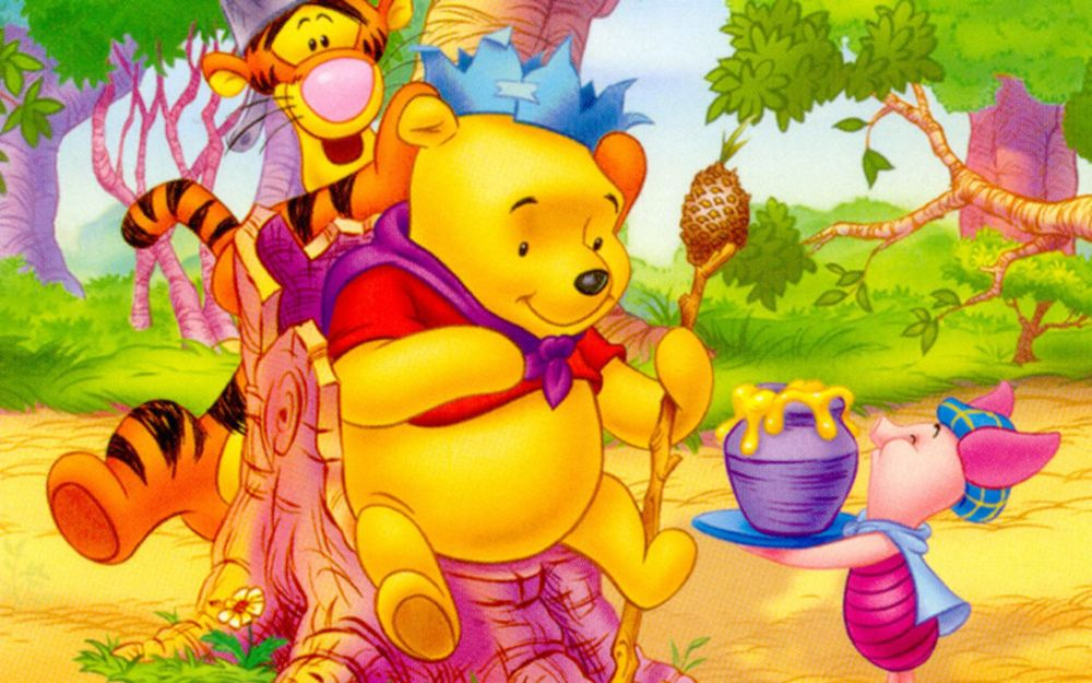 Download Poster with Disney characters Tigger, Winnie the Pooh and Piglet