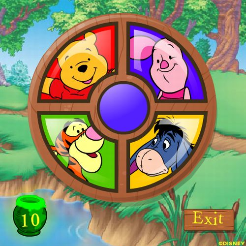 winnie the pooh piglet's roundabout online game
